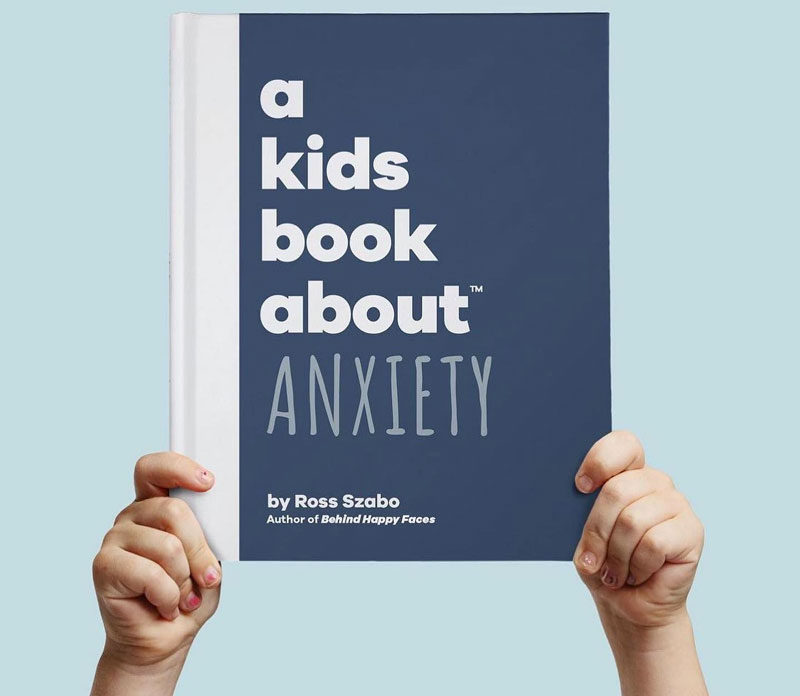 Cover of A Kids Book About Anxiety by Ross Szabo